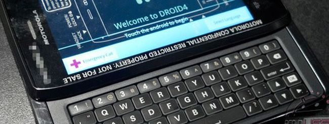 Motorola Droid 4, prime immagini e specifiche