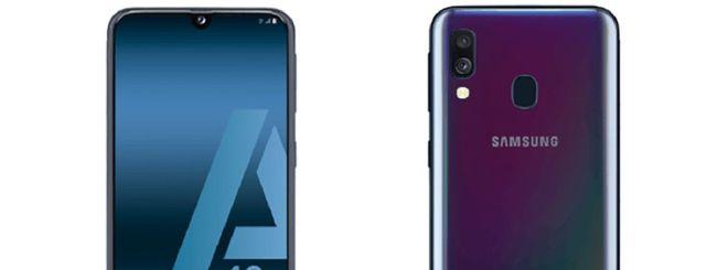 Samsung Galaxy A40, specifiche e immagini