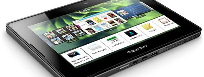 BlackBerry PlayBook: ritardano calendario, rubrica e client email