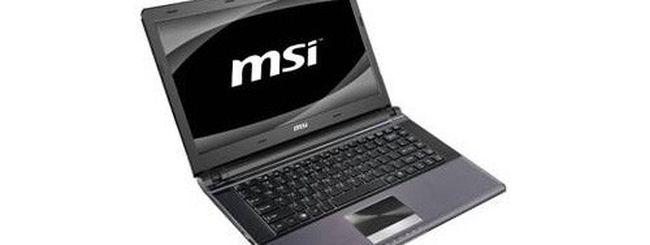 Core i7 e SSD per il nuovo notebook X460 di MSI