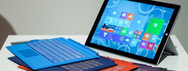 Microsoft, nuovo firmware per il Surface Pro 3