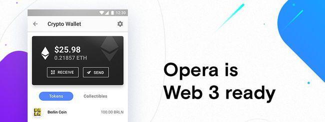 Opera per Android, wallet Ethereum e Web 3