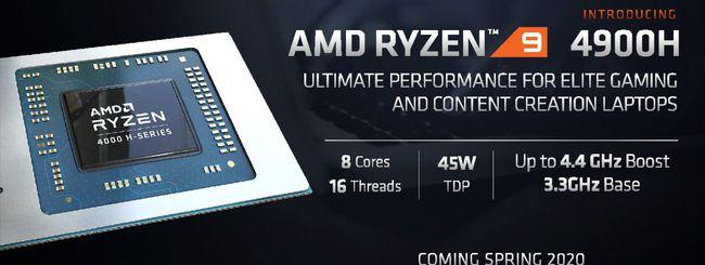 AMD Ryzen 9 4900H/HS, CPU per gaming laptop