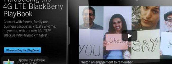 BlackBerry PlayBook 4G LTE, prezzi di lancio