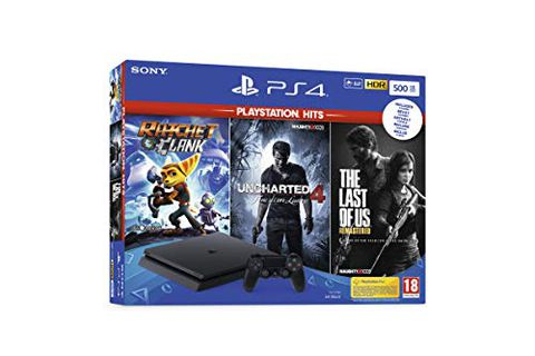 Playstation 4 Slim + Rachet & Clank + The Last Of Us (Remastered) + Uncharted 4
