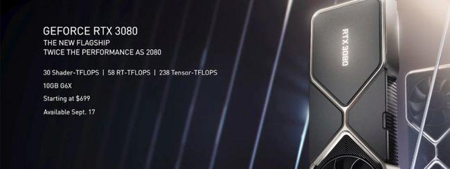 Nvidia RTX 3070, 3080 e 3090 ufficiali: prezzi e uscita