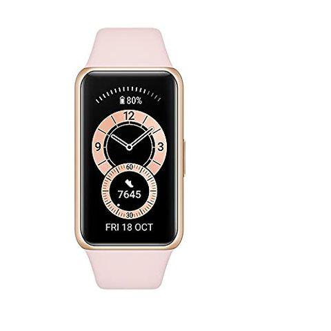 "HUAWEI Band 6 Smart Band Fitness Tracker, Touchscreen AMOLED 1.47"" (Pink)"
