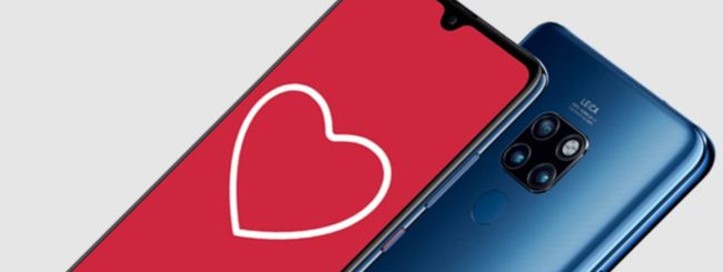 Huawei San Valentino: 100€ su P20 Pro o Mate 20