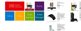 eBay app per Windows 8, immagini
