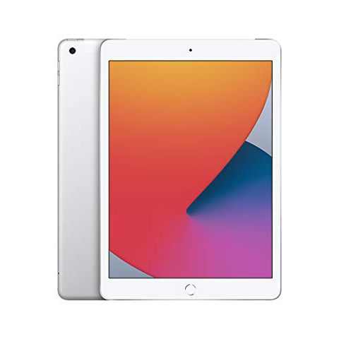 iPad 2020 (10,2″, Wi-Fi + Cellular, 128GB) – Argento (8ª generazione)