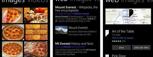 Microsoft aggiorna Bing per Windows Phone 8