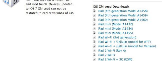 iOS 7, rilasciata agli sviluppatori la Golden Master