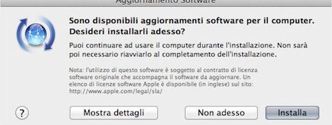 Aggiornamenti firmware per MacBook Pro e basi Airport