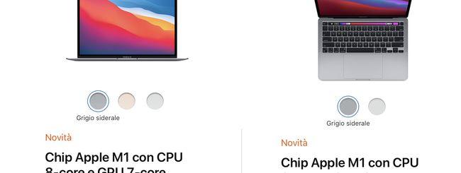 MacBook Air e MacBook Pro: il chip M1 è (quasi) identico