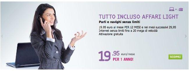 """Tiscali lancia la nuova """"Tutto Incluso Affari Light"""""""