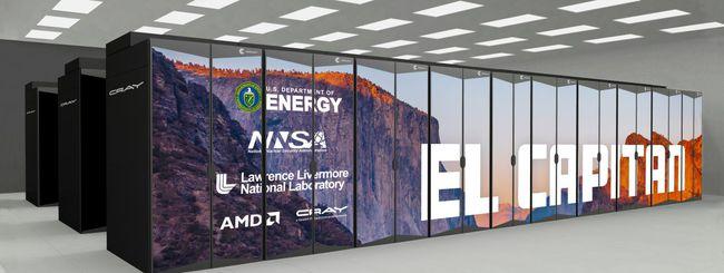 El Capitan, supercomputer con CPU e GPU AMD