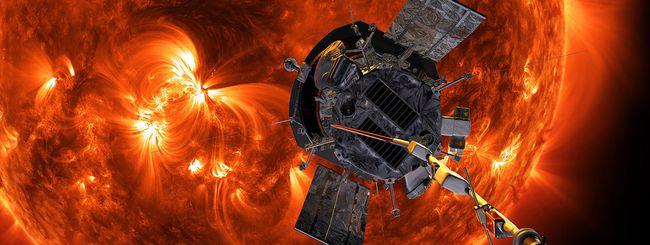 Parker Solar Probe tra le fiamme del Sole, la foto