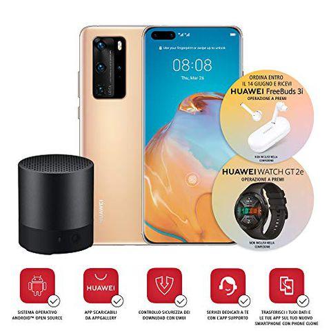 Huawei P40 Pro con Bluetooth Speaker (Oro)