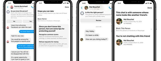 Facebook Messenger aiuta a riconoscere le truffe