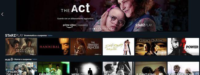 Amazon Prime Video Channels disponibile in Italia