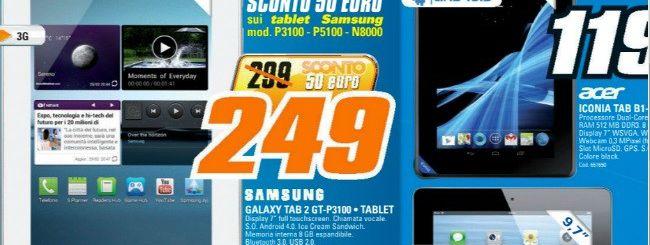 Volantino Saturn: Galaxy Tab 2 7.0 3G a 249 euro