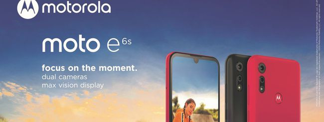 Motorola Moto E6s, schermo con notch e dual camera