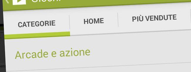Google Play: nuove categorie per i giochi
