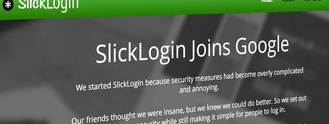 Google, confermata l'acquisizione di SlickLogin