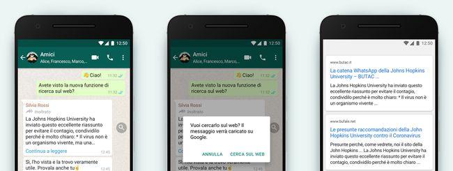 Whatsapp introduce la ricerca sul web. Ecco a cosa serve