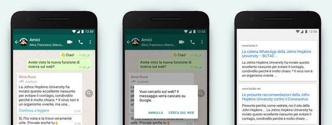 Whatsapp Ricerca Web