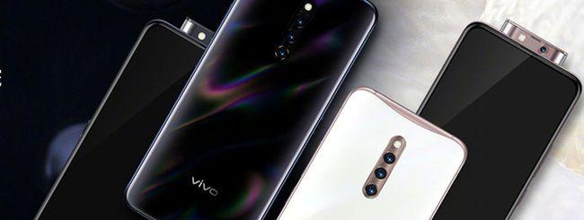 Vivo X27 Pro, fotocamera pop-up con flash LED