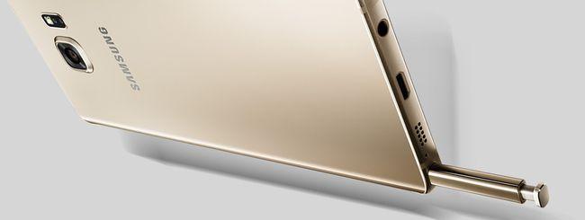 Samsung Galaxy Note 5: un avviso per il pennino
