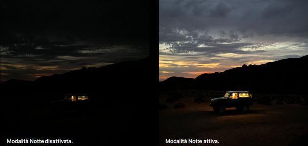 iPhone 11 modalità Notte