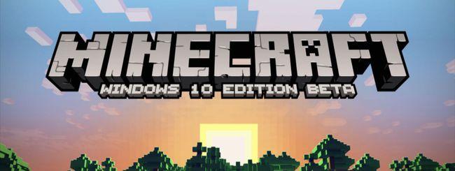 Microsoft annuncia Minecraft per Windows 10