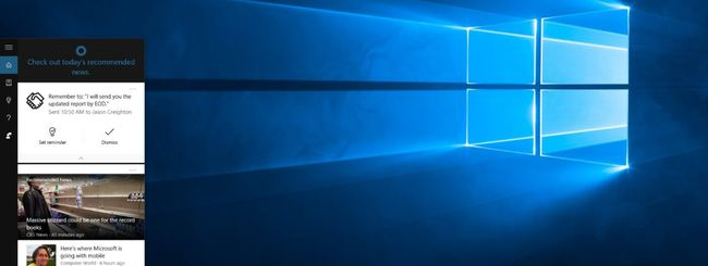 Windows 10, Cortana ricorda gli appuntamenti