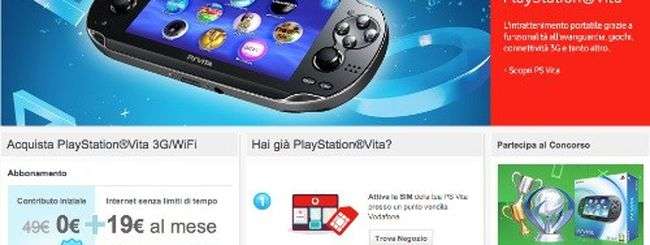 PlayStation Vita è arrivata, al via l'offerta di Vodafone