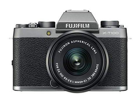 Fujifilm Kit X-T100 Fotocamera Digitale 24MP (APS-C), Mirino EVF