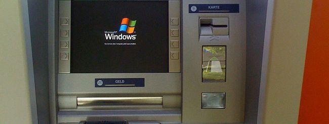 Windows XP, 100 milioni di dollari per gli ATM