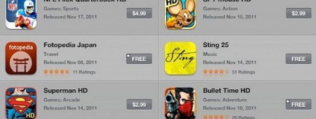 Un cambiamento in App Store per iPad