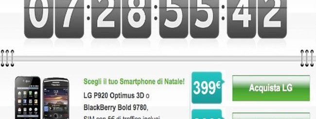 Vodafone Countdown: solo per oggi LG P920 Optimus 3D a 399€ e BlackBerry Bold 9780 a 299€