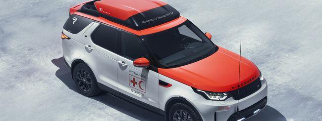 Land Rover, i droni si lanciano dal tetto