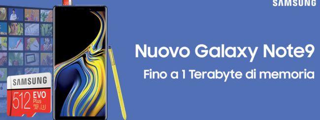 Galaxy Note 9, Samsung regala una Micro SD