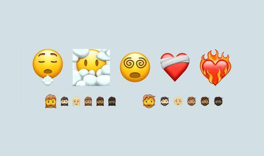 Nuovi Emoji 2021: cuore in fiamme, donna barbuta e altri