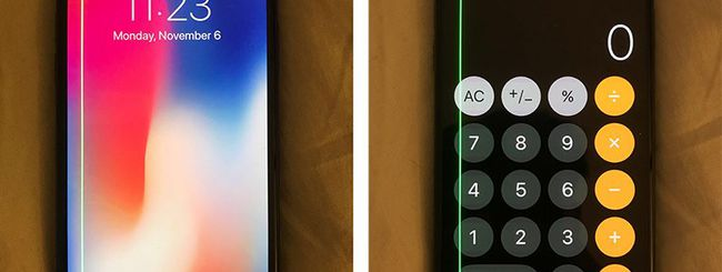 iPhone X: ronzii e rumori dallo speaker, linee verdi sul display