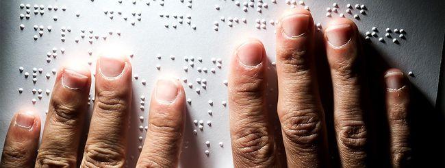 L'eBook reader con display in braille