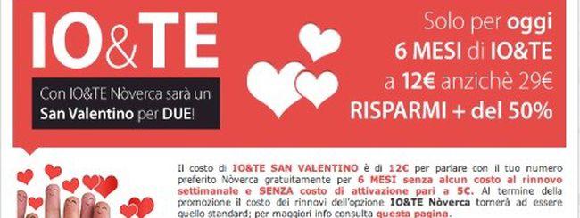Nòverca IO&TE San Valentino, solo per oggi per tutti gli innamorati