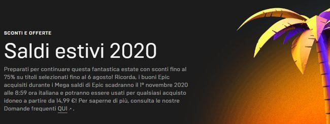 Epic Games Store, al via i Saldi estivi 2020