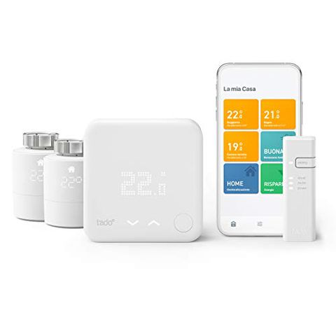 tado° Termostato Intelligente, Kit di base V3+ con Due Teste Termostatiche Intelligenti
