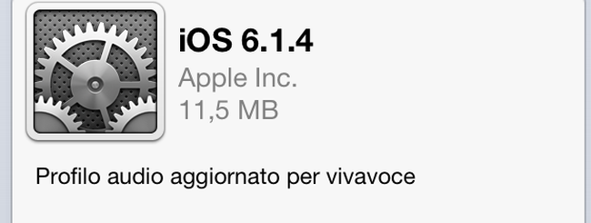 Apple rilascia iOS 6.1.4 per iPhone 5