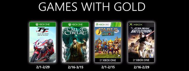 Microsoft svela i Games With Gold di febbraio 2020